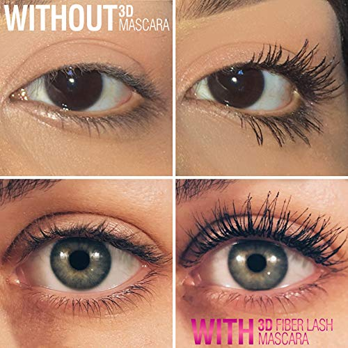 400 X Pure Silk Fiber Lash Mascara [Ultra Black, Waterproof], Longer & Thicker Eyelashes, Smudge Proo