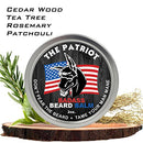 Image of Badass Beard Care Beard Balm   The Patriot Scent, 2 Ounce   All Natural Ingredients, Keeps Beard And