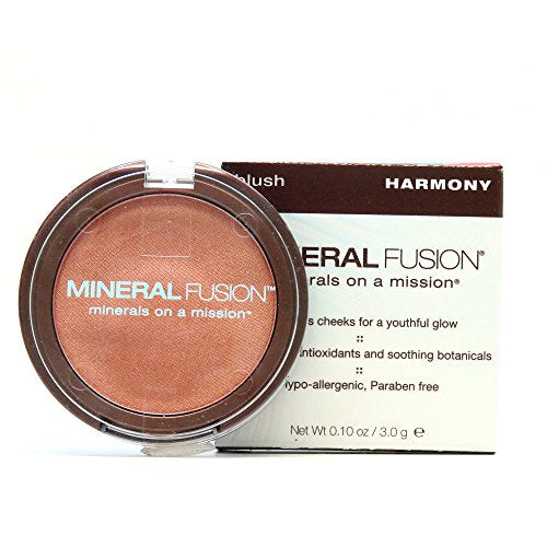 Mineral Fusion Blush, Harmony, Coral Shimmer, 0.10 Oz (Packaging May Vary)