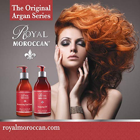 Sculpting Gel | Moroccan Argan Oil For Hair | Curly Hair Styling Gel | Hair Styling & Smoothing Products | Quick Drying | Royal Moroccan Argan Oil Hair Products 500 ml (16.9 fl oz)