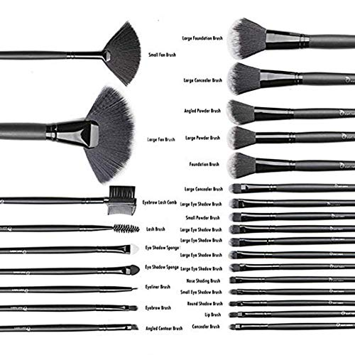 Makeup Brushes Start Makers 32Pcs Professional Makeup Brush Set With Beauty Blender and Gift Box (Black)