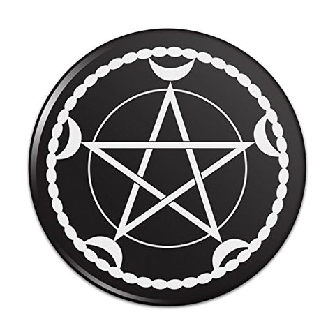 Pentacle Pentagram Moon Goddess Wiccan Witch Nature Compact Pocket Purse Hand Cosmetic Makeup Mirror - 2.25