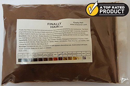 Hair Building Fibers 57 Grams. Highest Grade Refill That You Can Use for Your Bottles From Competitors Like Toppik?, Xfusion?, Samson? (Auburn)