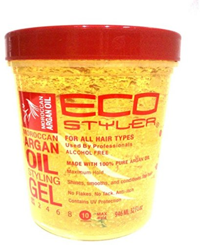 ECOCO EcoStyler Styling Gel, Moroccan Argan Oil, 32 oz (Pack of 3)