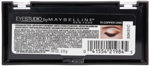 Maybelline New York Eye Studio Color Plush Silk Eyeshadow, Copper Chic 70, 0.09 Ounce