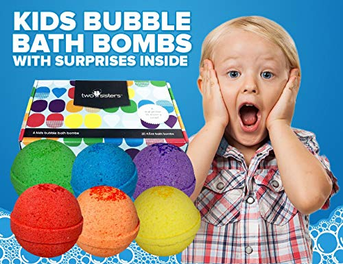 Bubble Bath Bombs For Kids With Surprise Toys Inside For Boys And Girls By Two Sisters. 6 Large 99%