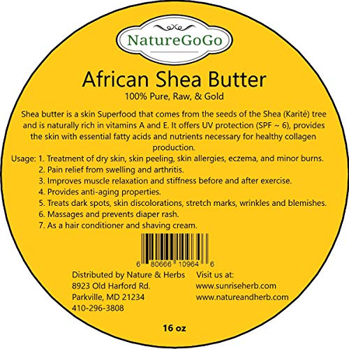 100% Organic West African Shea Butter 16 oz