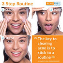 Image of Acne Free 3 Step 24 Hour Acne Treatment Kit   Clearing System W Oil Free Acne Cleanser, Witch Hazel