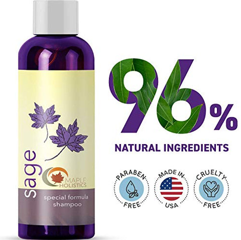 Maple Holistics Sage Shampoo For Anti Dandruff With Jojoba Argan And Organic Tea Tree Oil â?? Natura