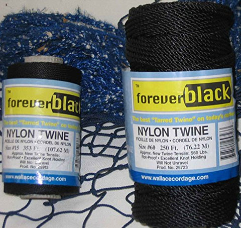 Wallace Cordage T-42 1 lb Tarred Twisted Nylon Twine #42 425 lb Fishing Line