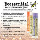Image of Beessential All Natural Lemon Lavender Lip Balm 2 Pack   Voted Best For Dry And Chapped Lips â?? Gre