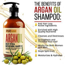 Image of Moroccan Argan Oil Shampoo No Sls No Sulfate, Organic For Damaged, Dry, Curly Or Frizzy Hair   Thick