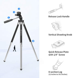 Travel Tripod for Phone with Bluetooth Remote Control & Portable Tripod Bag - Try Adventure Shop