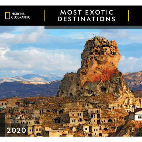 Cal 2020-National Geographic Most Exotic Destinations Wall - Try Adventure Shop