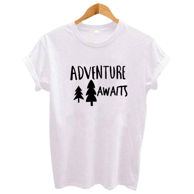 Women Clothes Adventure Awaits T-shirt - Try Adventure Shop