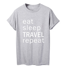 Load image into Gallery viewer, ONSEME eat sleep Travel repeat Holiday Friends t shirt - Try Adventure Shop
