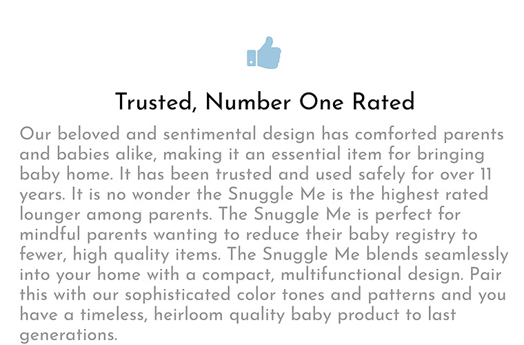 snuggle me organic baby lounger benefits trusted by parents