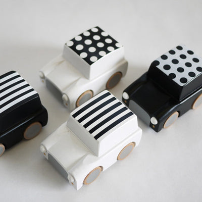 Black Dot Japanese Wooden Toy Car