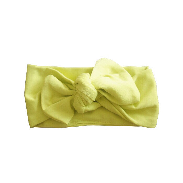 Sunshine Organic Bow Headband