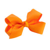 Orange Kids Bow Hair Clip