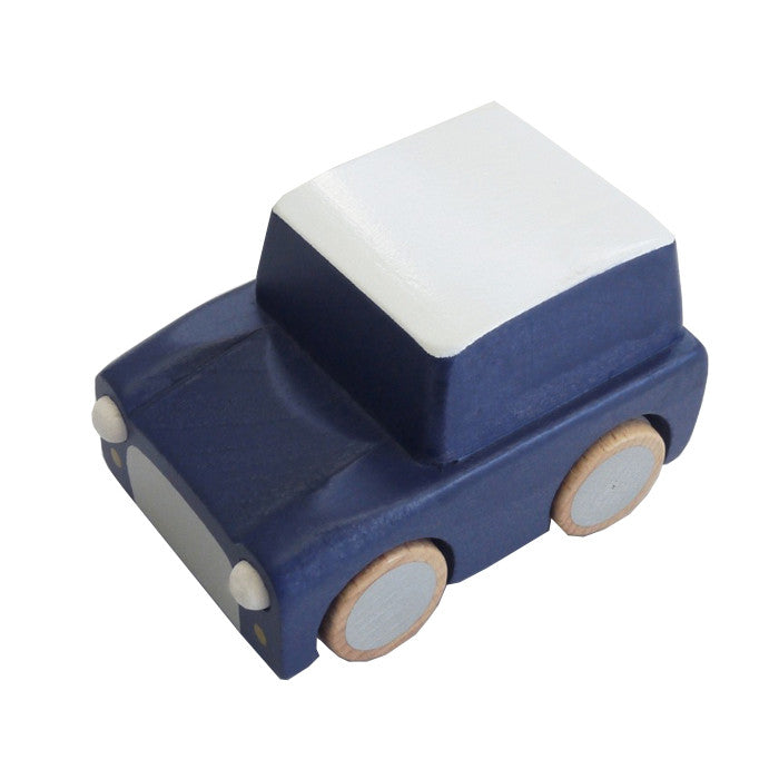 Navy Japanese Wooden Toy Car