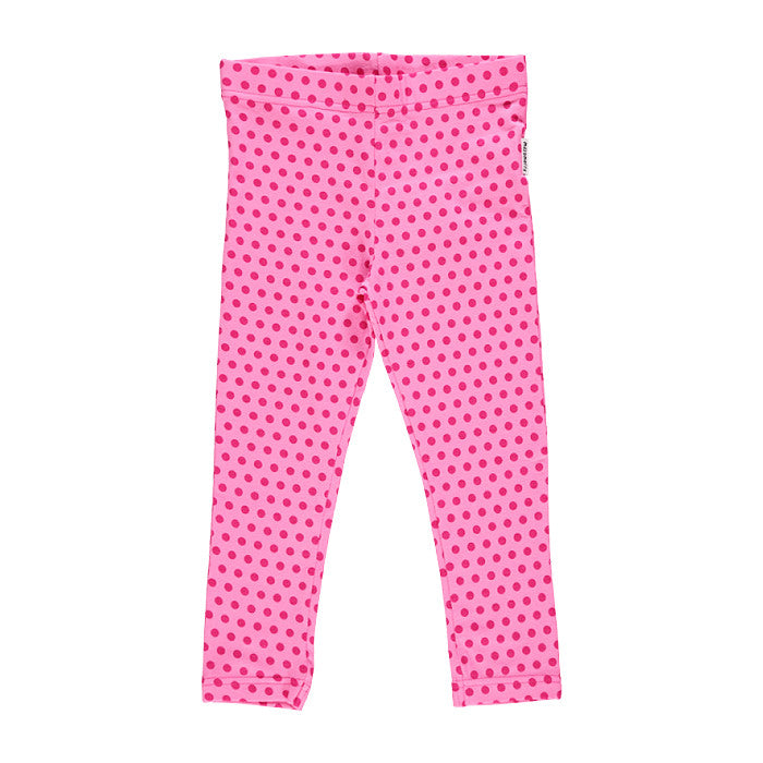 Polka Dots Pink Cropped Leggings