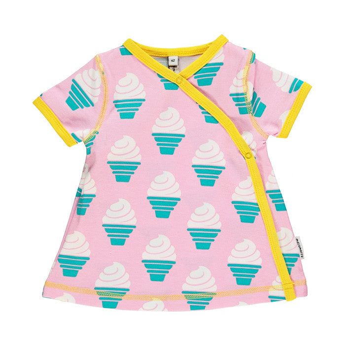 Ice Cream Organic Wrap Dress