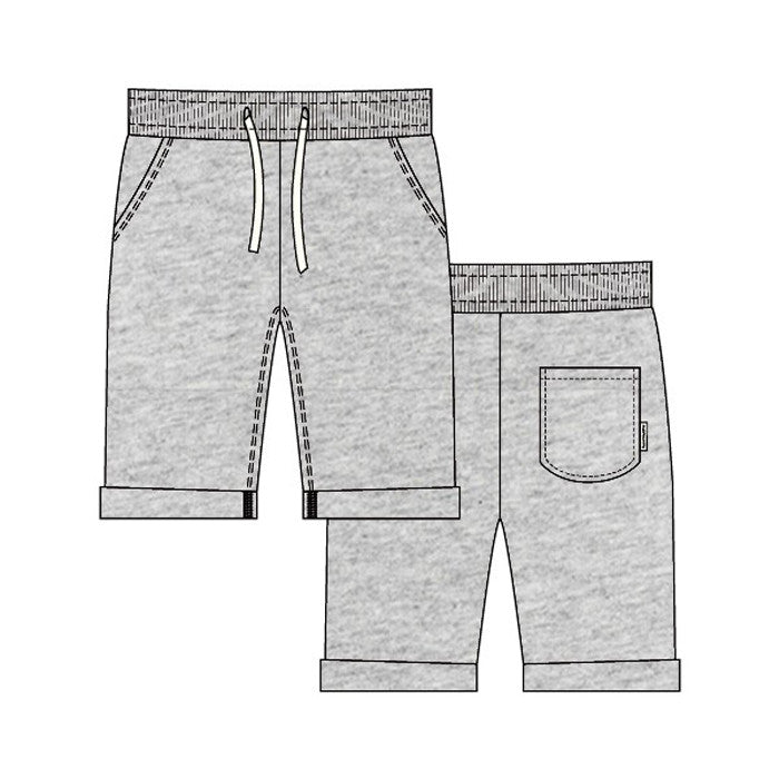 Heather Grey Knee Sweatshorts