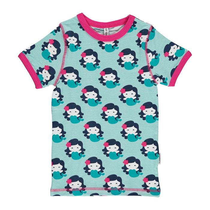 maxomorra kids mermaid short sleeve top
