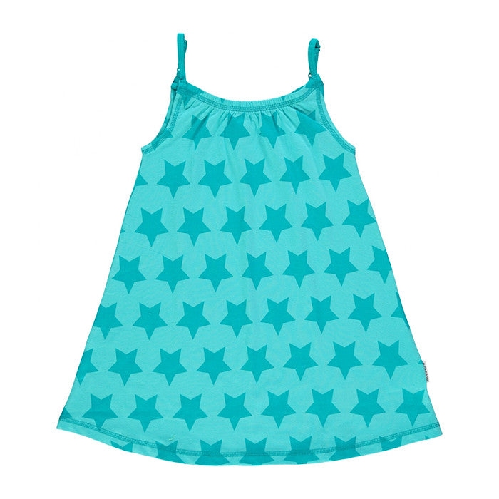maxomorra kids stars spaghetti strap dress