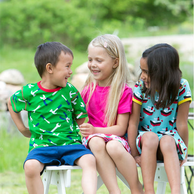 kids in maxomorra short sleeve top