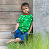 boy in maxomorra tools green short sleeve top