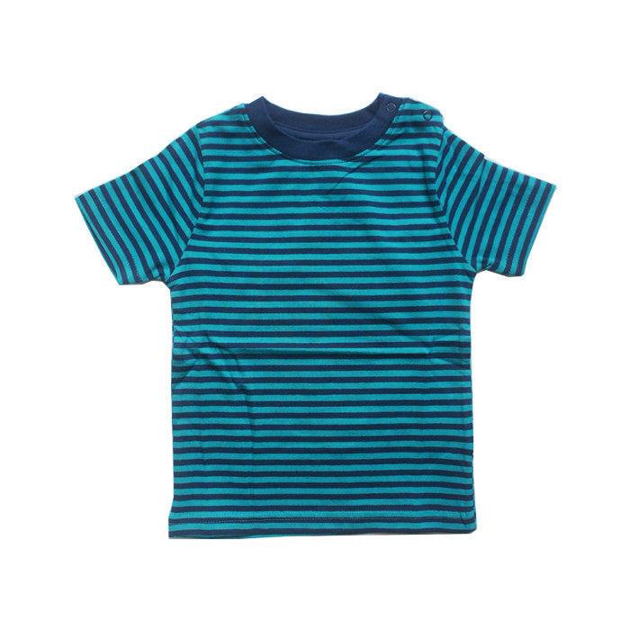 Blue Striped Short Sleeve Tee