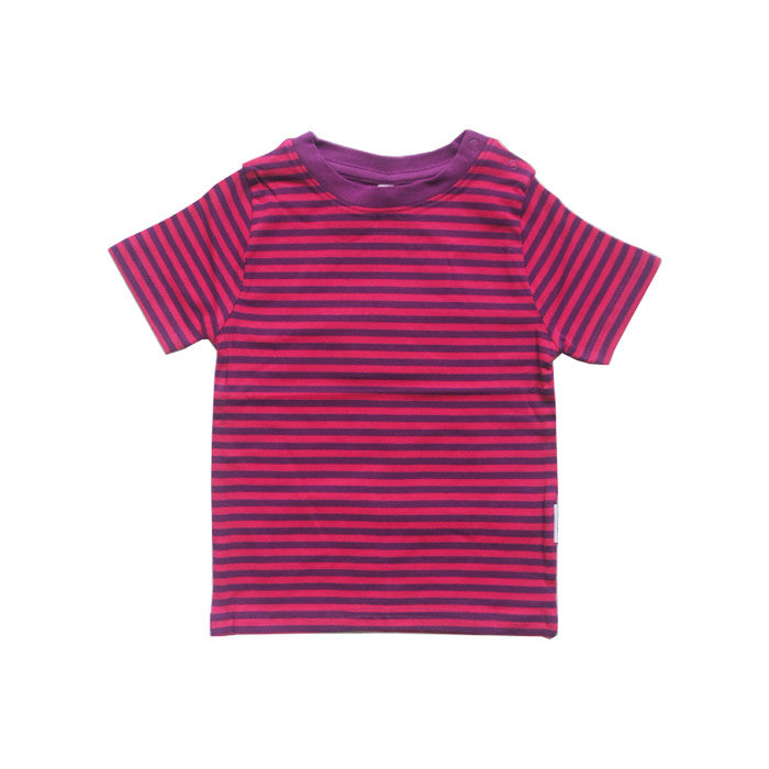 Pink Striped Short Sleeve Tee