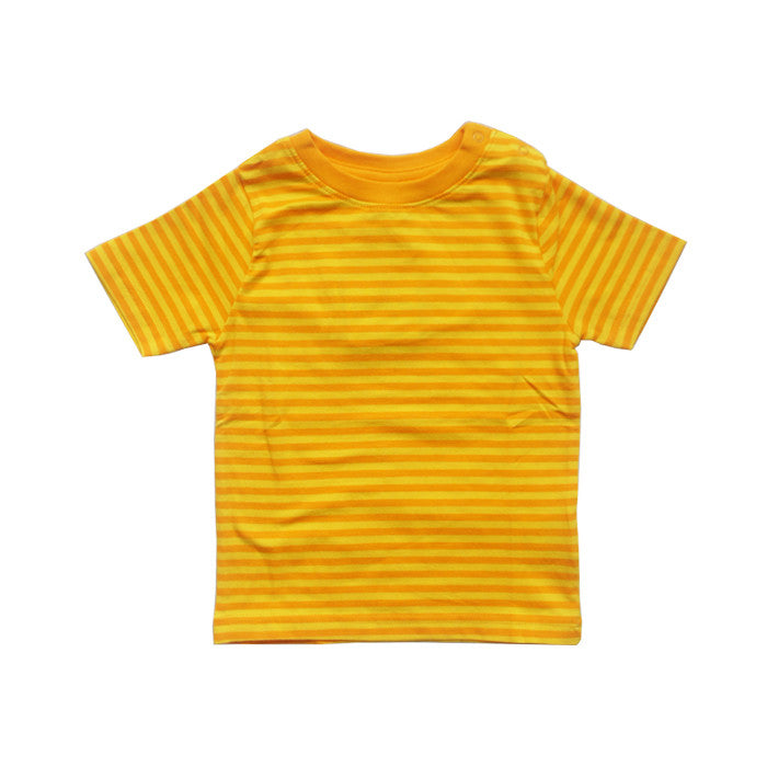 Yellow Striped Short Sleeve Tee