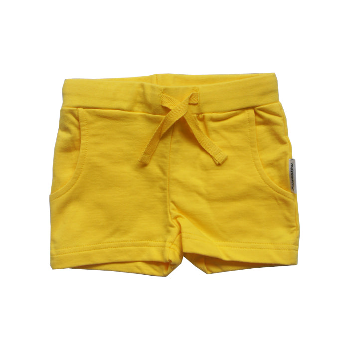 Yellow Basic Shorts