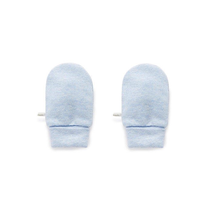 Essentials Mittens in Pale Blue Melange