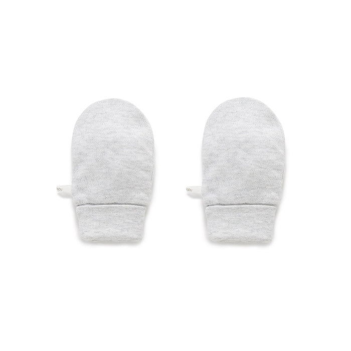 Essentials Mittens in Pale Grey Melange
