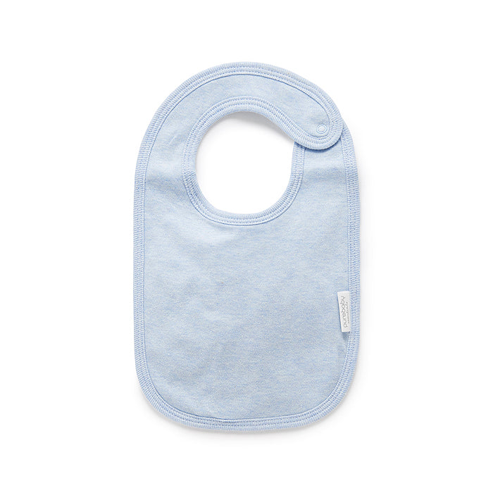Essentials Organic Bib in Pale Blue Melange