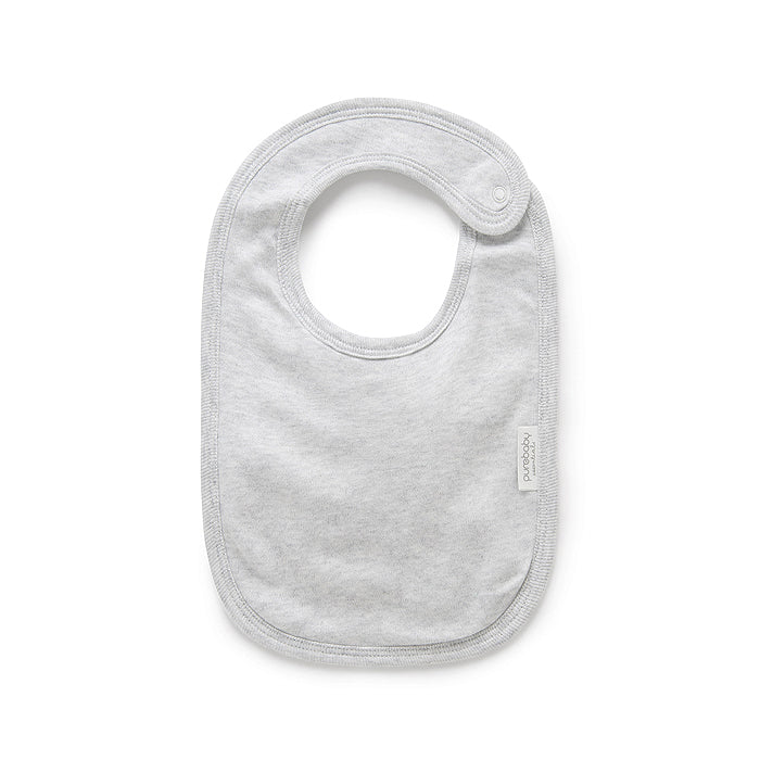 Essentials Organic Bib in Pale Grey Melange