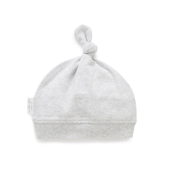 Knot Hat in Pale Grey Melange