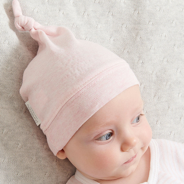 Knot Hat in Pale Pink Melange