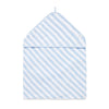 Hooded Towel in Pale Blue Stripe