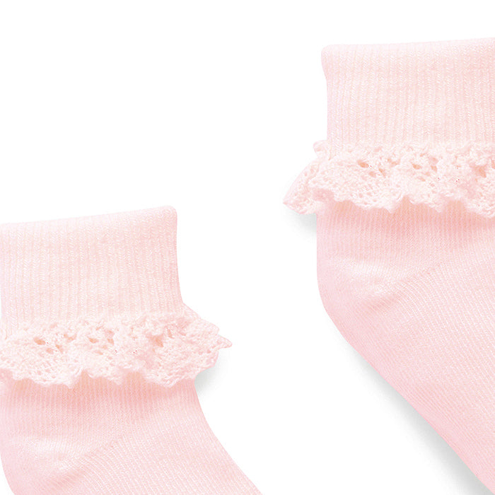 Lace Sock in Pale Pink