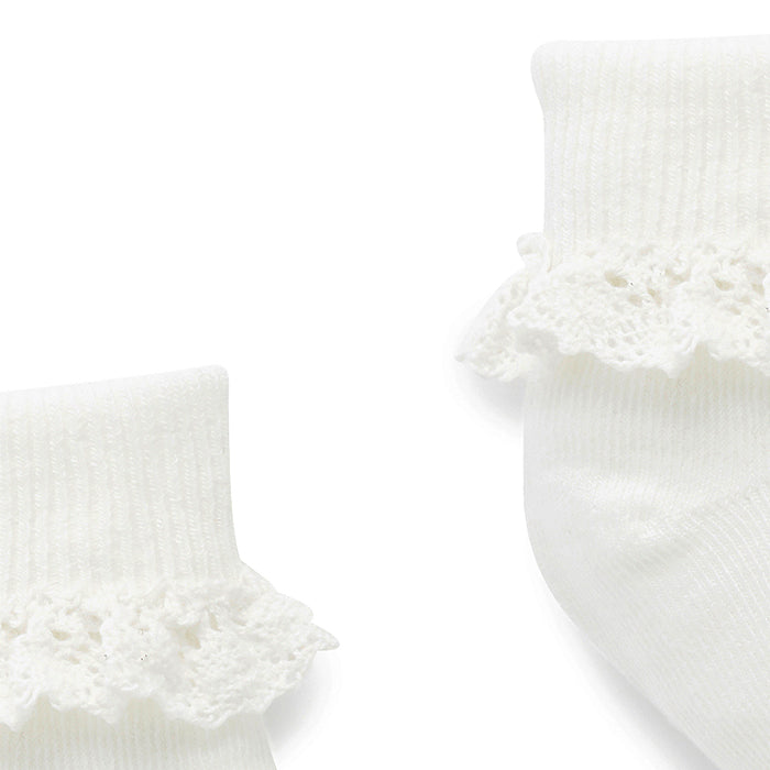 Lace Sock in White