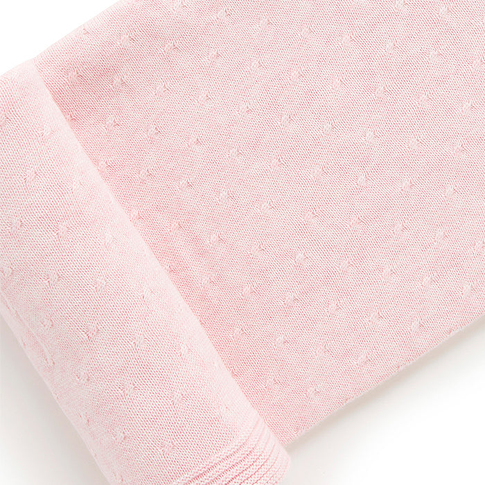Essentials Blanket in Pale Pink Melange