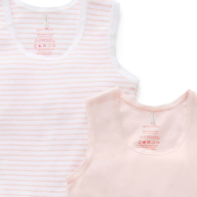 Essentials 2-Pack Rib Bodysuit in Pale Pink
