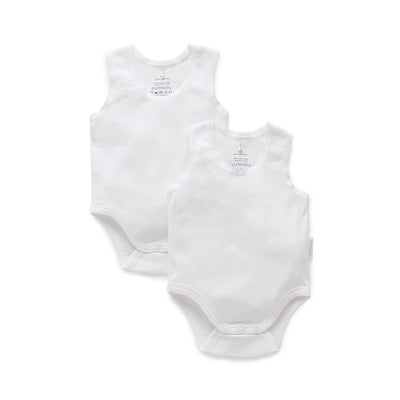 Essentials 2-Pack Rib Bodysuit in White