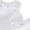Essentials 2-Pack Singlet Bodysuit in Pale Grey Melange