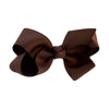 Chocolate Kids Bow Hair Clip